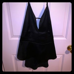 Black silk halter top!
